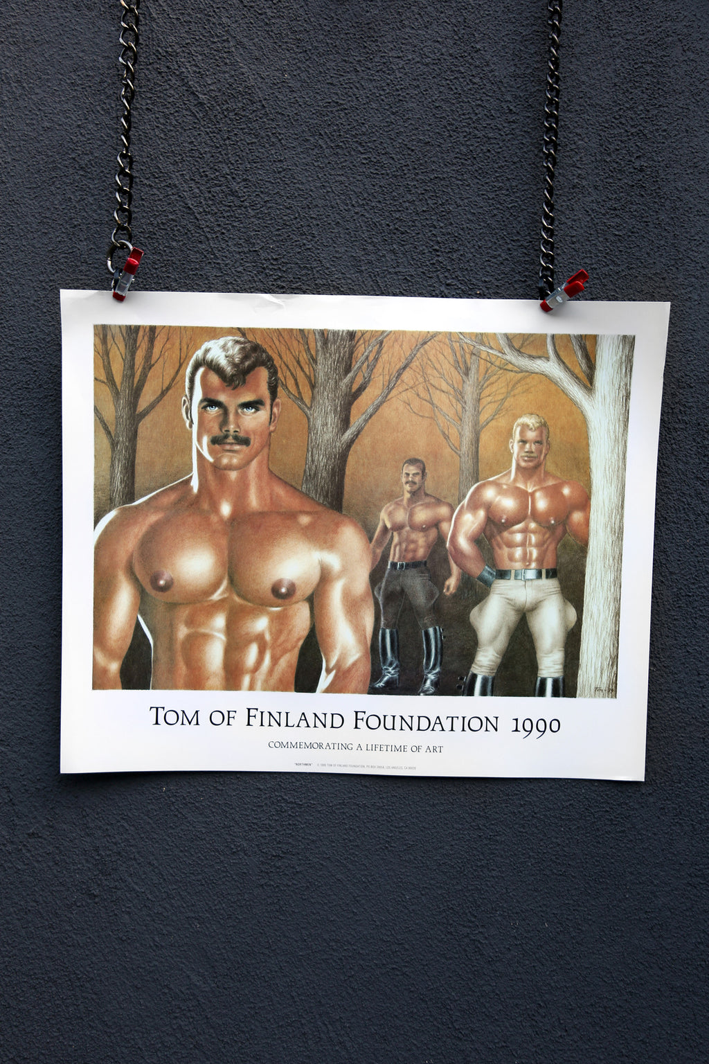 Vintage Tom of Finland Foundation 1990 Poster