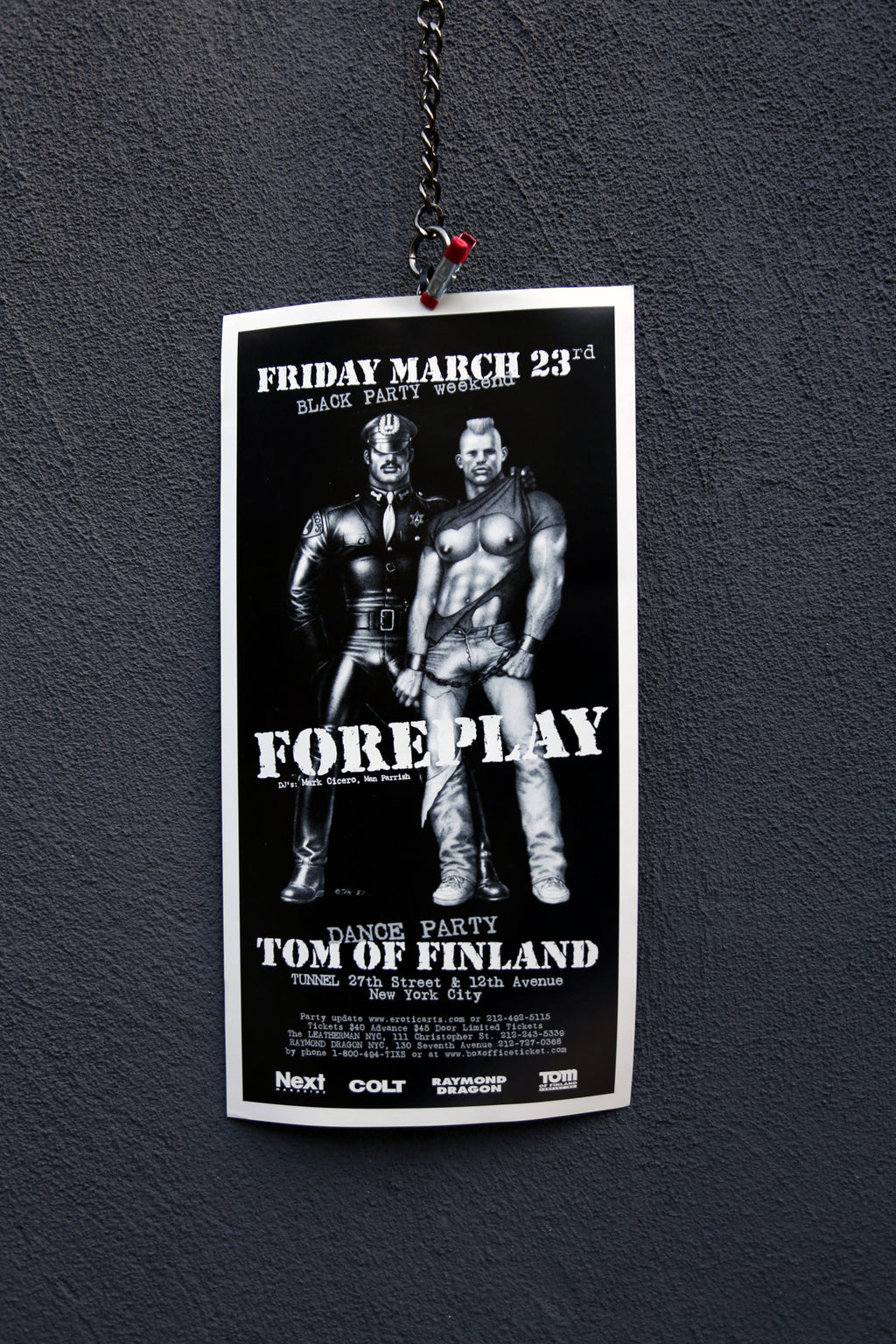 Vintage Tom of Finland Foreplay Poster
