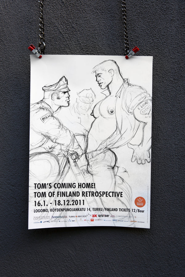 "Vintage ""Tom's Coming Home"" Poster"