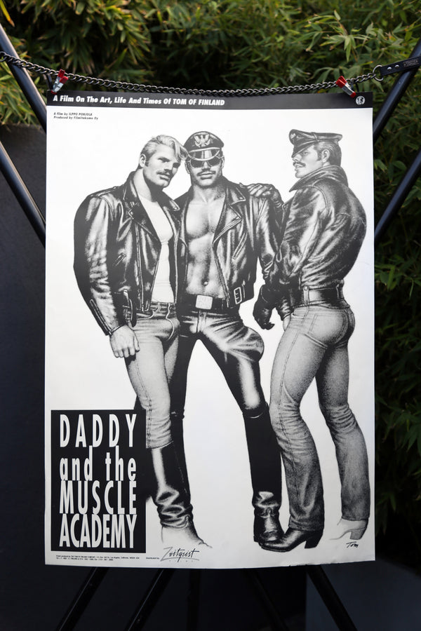"Tom of Finland ""Daddy and the Muscle Academy"" Poster"