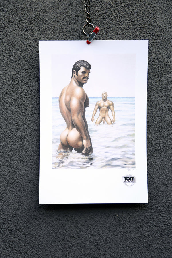 "Tom of Finland ""Hot Water"", 1980   Print Edition Image 1"