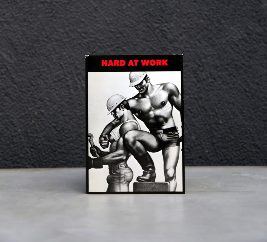 Vintage Tom of Finland Hard At Work Greeting Card