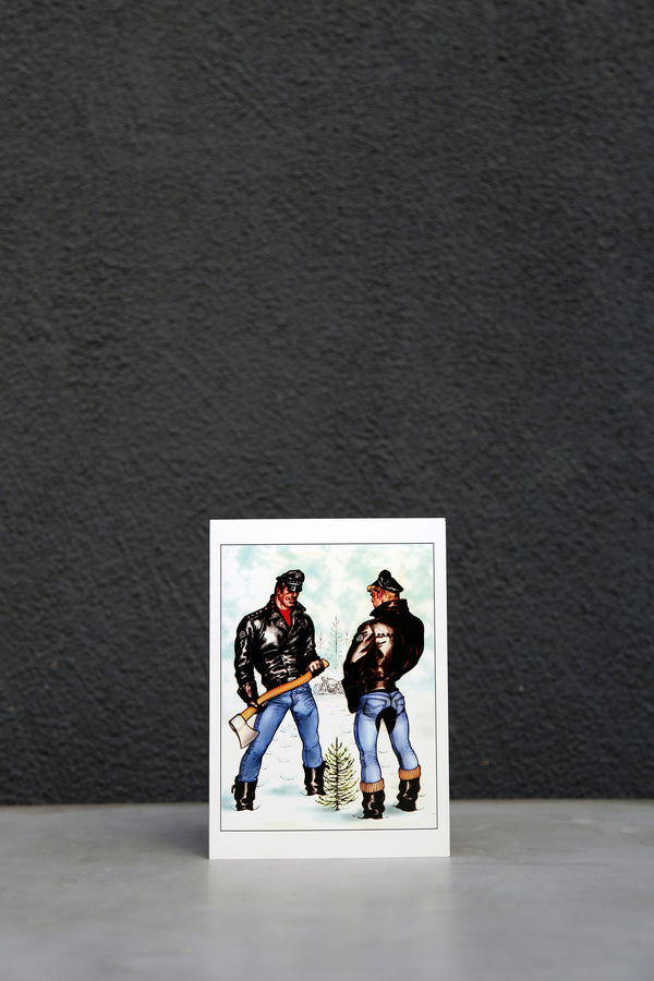 Vintage Tom of Finland Happy Holidays Greeting Card