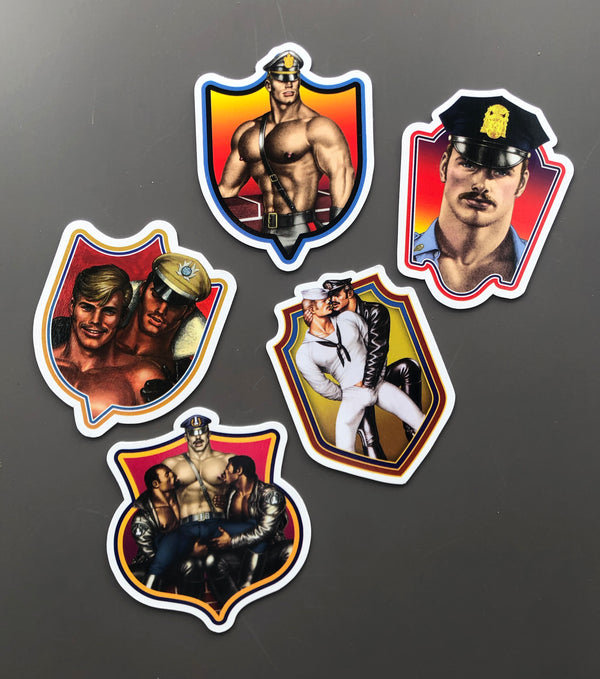 Tom of Finland magnets by Kweer Cards