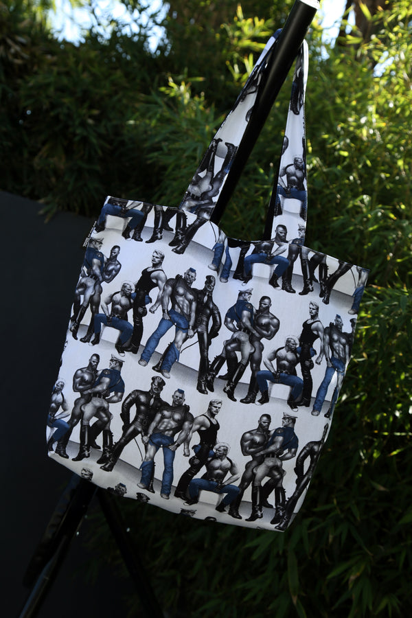 Tom of Finland Blue Squad Lined Tote Bag by Finlayson