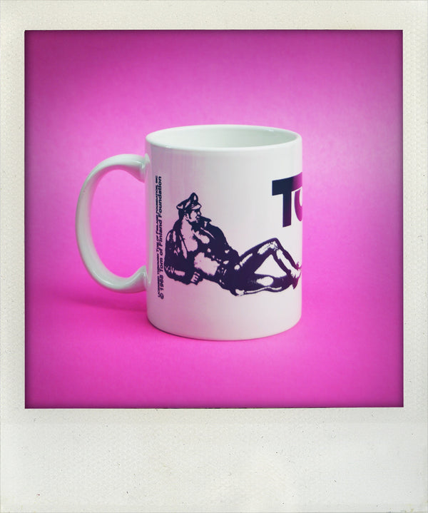 "Tom of Finland ""Reclining Leatherman"" Ceramic Coffee Mug"