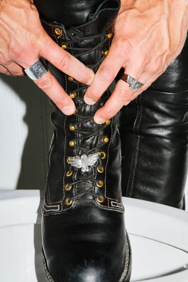 Jonathan Johnson x Tom of Finland FLYING COCK Sterling Silver Shoe Link