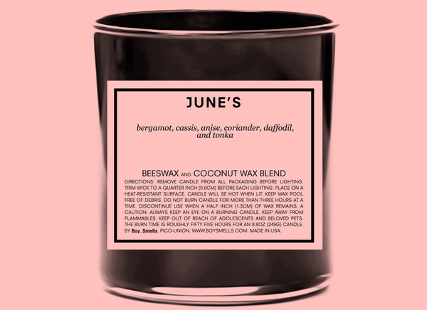 BOY SMELLS CANDLE: JUNE'S