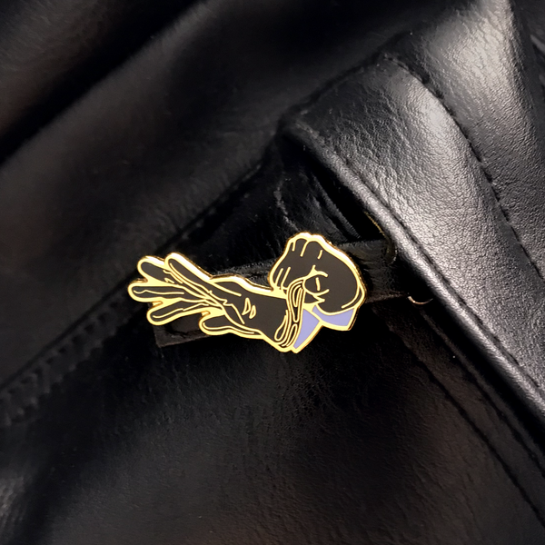 GAYPIN' ENAMEL PIN: HAND ME MY LEATHER
