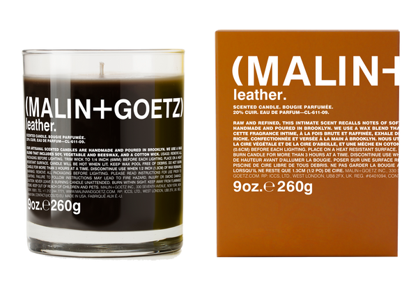 Malin+Goetz Leather Candle 9 oz / 260 g
