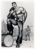 Lumberjack - Tom of Finland Postcard