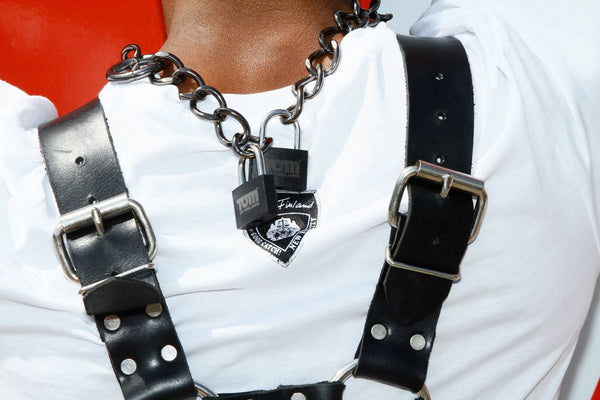 Tom of Finland Locking Chain Cuffs / Necklace