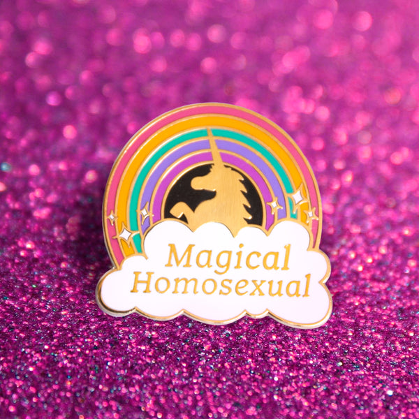 GAYPIN' ENAMEL PIN: MAGICAL HOMOSEXUAL