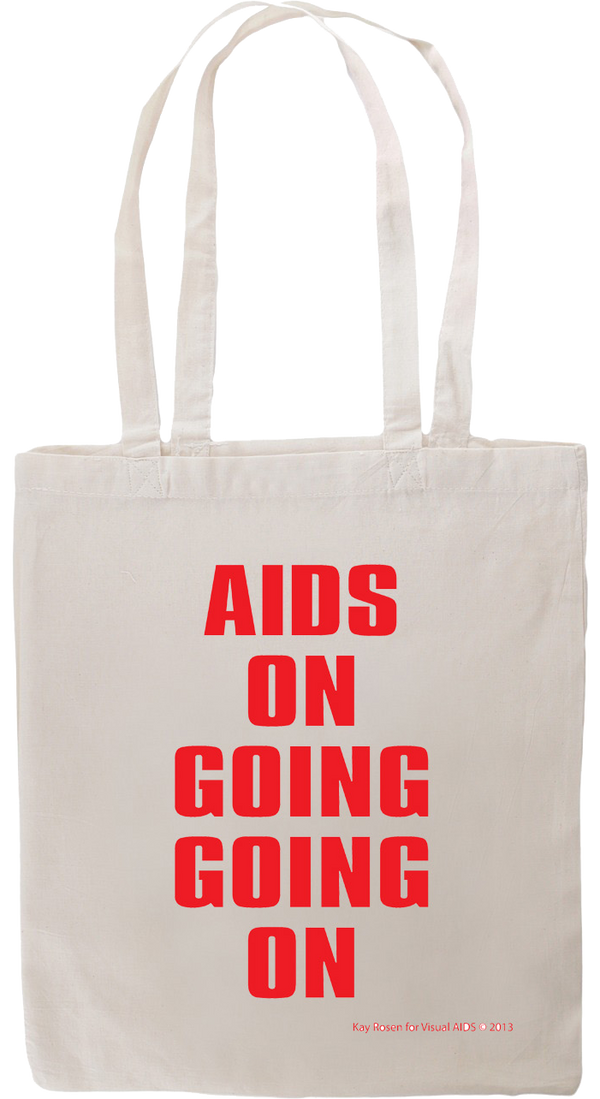 AIDS ON GOING GOING ON tote by Kay Rosen for Visual AIDS