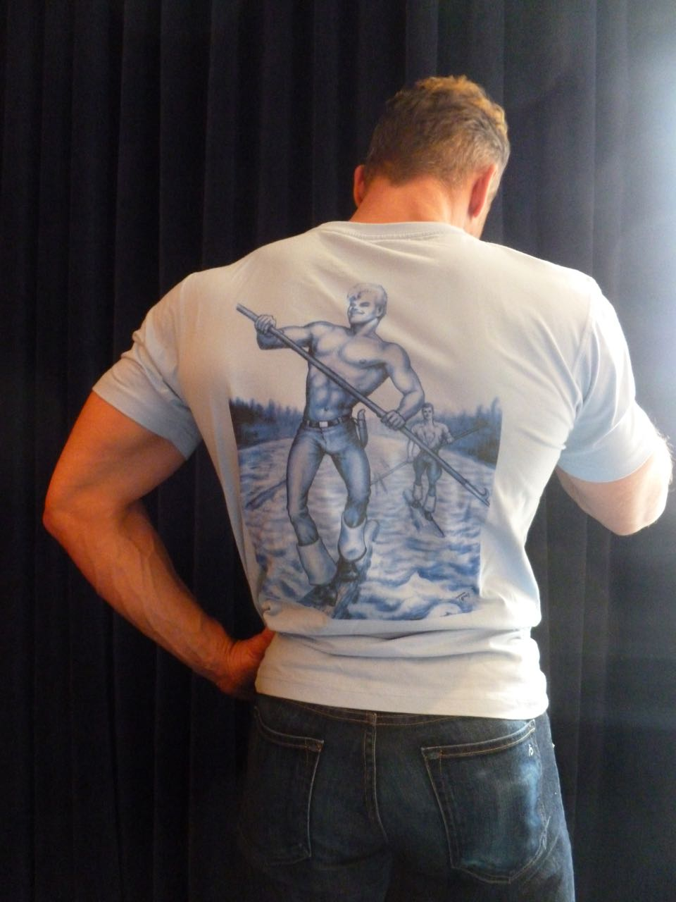Tom of Finland X Happy Hour Skateboards T-shirt: Just Cruising