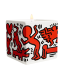 "KEITH HARING ""RED ON WHITE"" SQUARE PERFUMED CANDLE"
