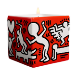 "KEITH HARING ""WHITE ON RED"" SQUARE PERFUMED CANDLE"