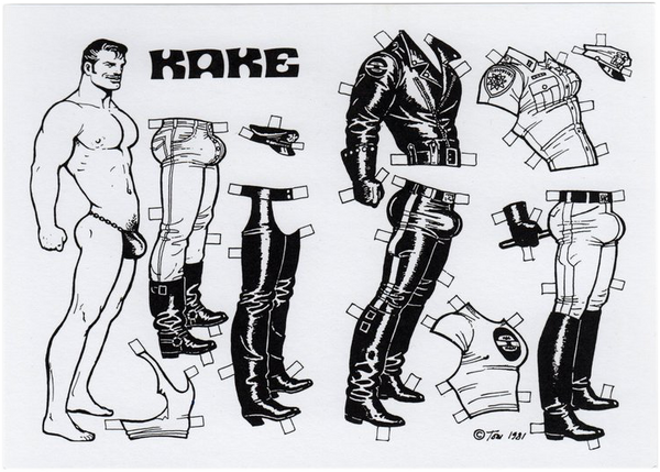 Paper Doll - Tom of Finland Postcard