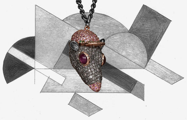 Bjarne Melgaard x Bjørg Diamond Skaterat Necklace
