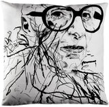 Robert Knoke Iris Apfel Pillow for Henzel Studio