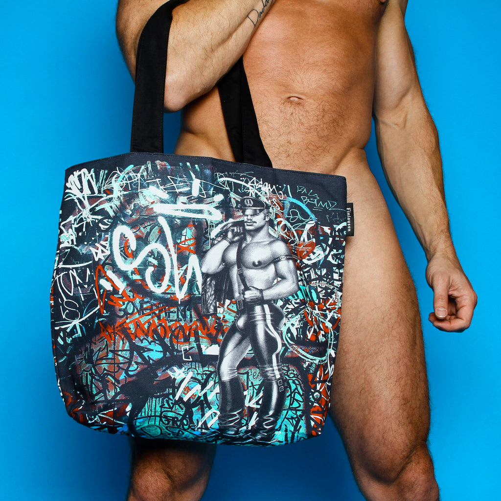 Tom of Finland Back Alley Lined Tote Bag by Finlayson