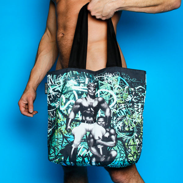 Tom of Finland Back Street Lined Tote Bag by Finlayson
