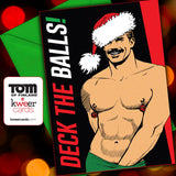 Tom of Finland DECK THE BALLS Holiday Card by Kweer Cards