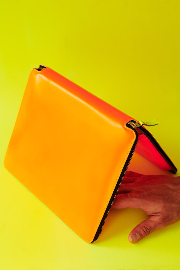 Comme des Garçons Super Fluo Light Orange iPad case