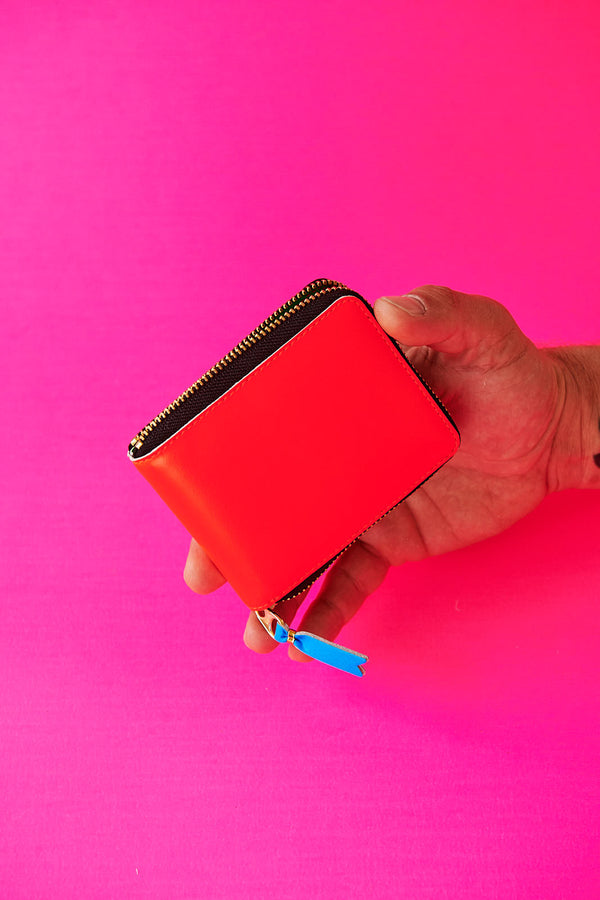 COMME DES GARÇONS SUPER FLUO ORANGE MEDIUM ZIP WALLET