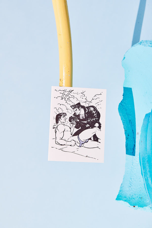 "Tom of Finland ""Stranded"" Letterpress Greeting Card"