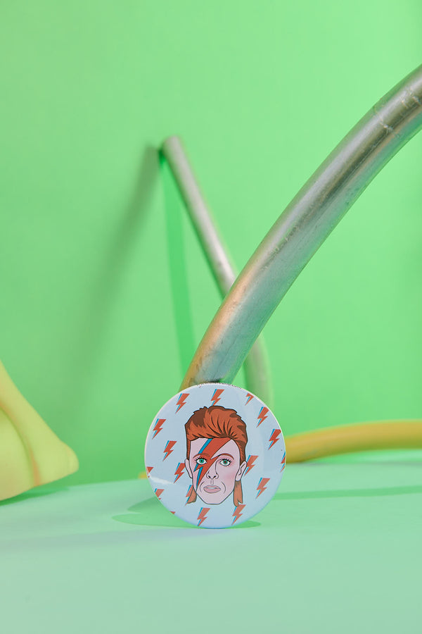 David Bowie Pocket Mirror by The Found