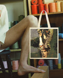 Green Collage Tote by LINDER