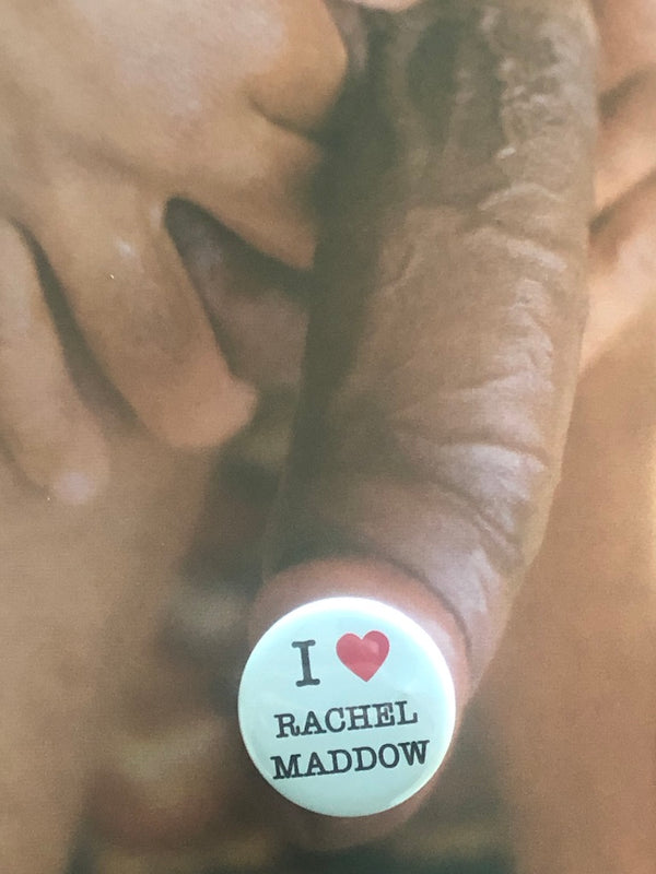 I HEART RACHEL MADDOW Button by Word for Word Factory