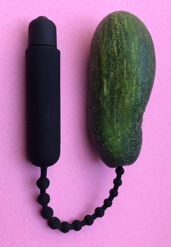 Dark Rod Vibrating Beaded Silicone Sound