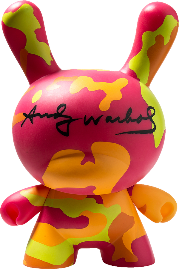 "Andy Warhol 8"" Masterpiece Camo Dunny by Kidrobot"