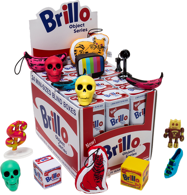 Andy Warhol Brillo Box Art Object Blind Box Series by Kidrobot