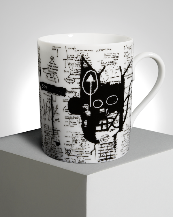 "Jean-Michel Basquiat ""Return of The Central Figure"" PORCELAIN MUG"