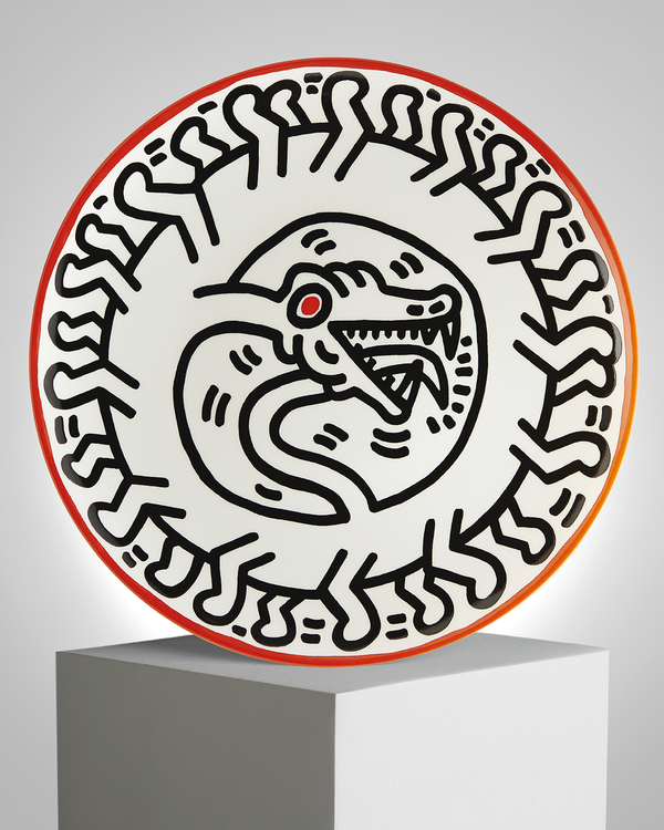 "Keith Haring PORCELAIN PLATE ""SILVER COLLECTION"" #2"