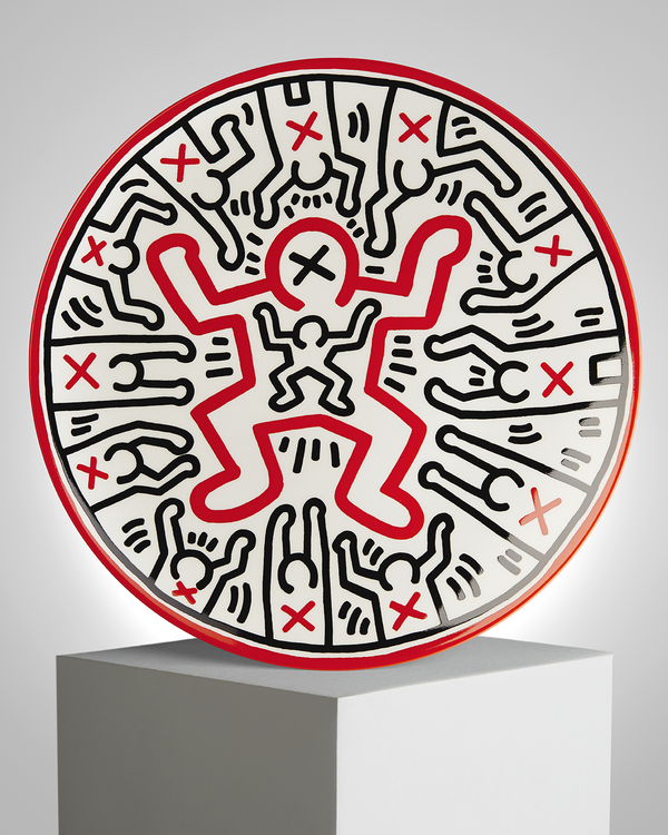 "Keith Haring PORCELAIN PLATE ""SILVER COLLECTION"" #1"
