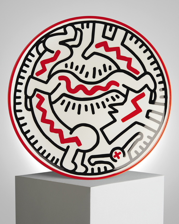 "Keith Haring PORCELAIN PLATE ""SILVER COLLECTION"" #3"