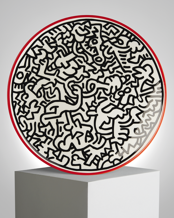 "Keith Haring PORCELAIN PLATE ""SILVER COLLECTION"" #4"