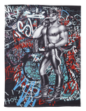 Tom of Finland Back Alley Hand Towel by Finlayson