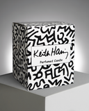 Keith Haring Red Running Heart Candle