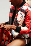 Print All Over Me Bruce LaBruce x Damien Blottiere Bomber Jacket modeled photo 2