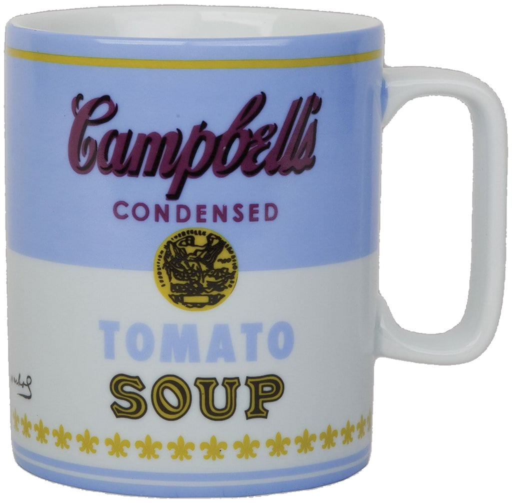 Andy Warhol Campbell's Soup Boxed Mug Blue & White