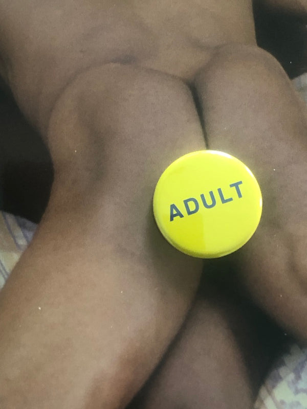 Adult Button by Word for Word Factory