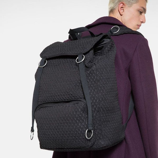 Raf Simons x Eastpak Topload Loop Backpack Black Matlasse A/W 19-20