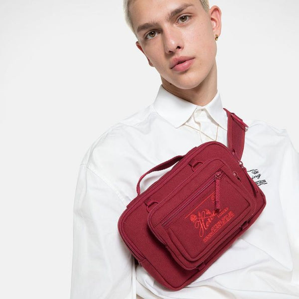 Raf Simons x Eastpak Waistbag Loop Burgundy A/W 19-20