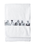 Tom of Finland by Finlayson Fellows Bath Towel in White
