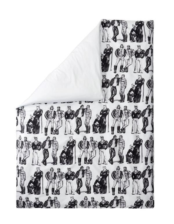 Tom of Finland Fellows Sateen Duvet Cover by Finlayson